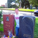 Bruce Lees Grab auf dem Lake View Cemetery in Seattle.