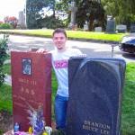 Bruce Lees Grab auf dem Lake View Cemetery in Seattle.