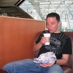 Noch ein Kaffee bei Starbucks am Düsseldorf International Airport.