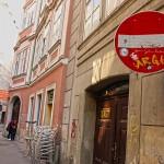 Einfahrt verboten - Seitenstraße, Wien
